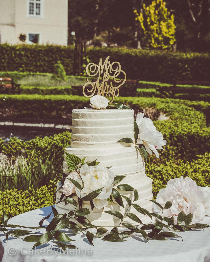 Bröllopstårta Norrköping, Linköping, Stockholm, Nyköping, Finspång, Villa Fridhem bakad av CakeByMelina