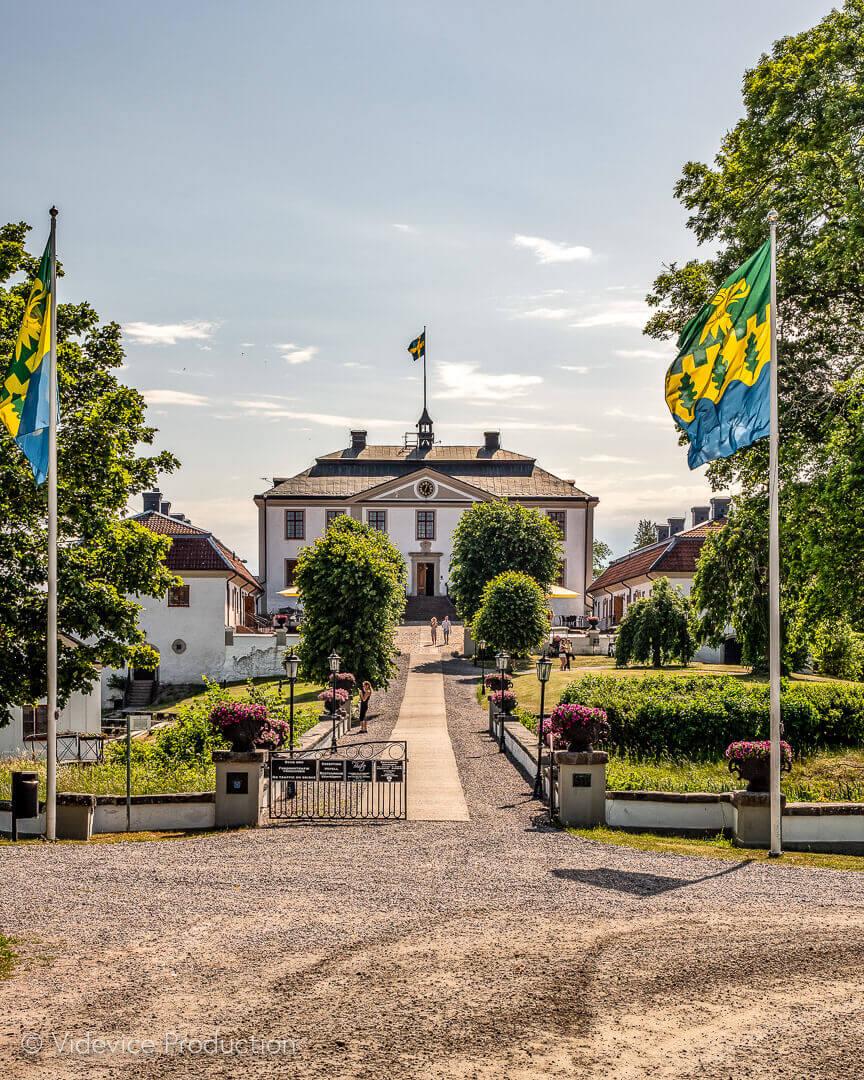 Foto från Videvice Production av vackra Mauritzberg Slott i Norrköping