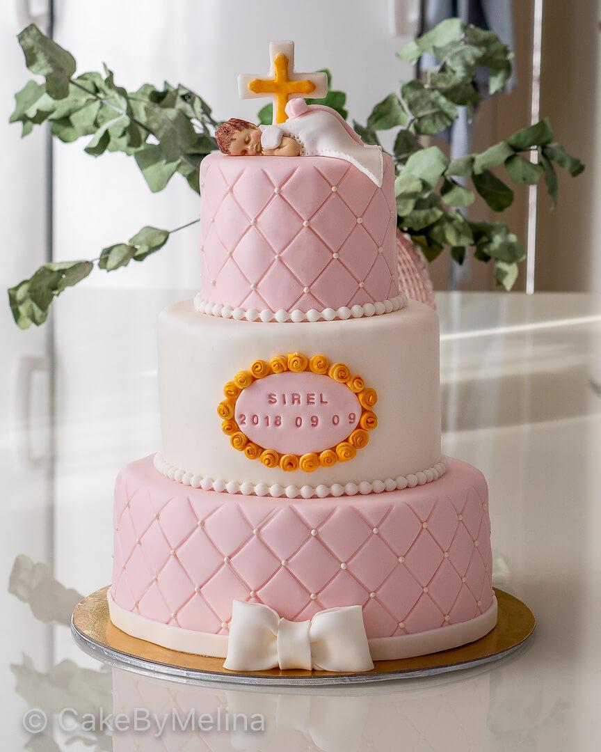 Doptårta Norrköping, Linköping, Stockholm, Nyköping, Finspång som är bakad av CakeByMelina