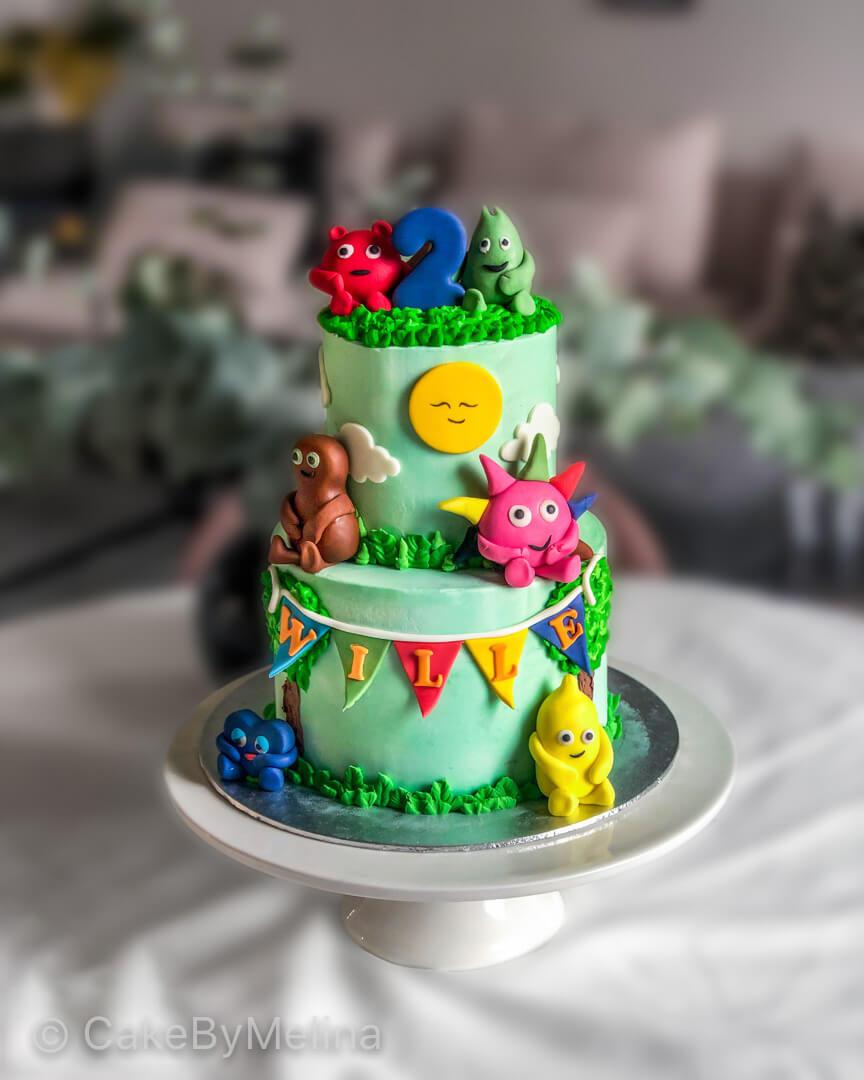 Barntårta Babblarna Norrköping, Linköping, Stockholm, Nyköping, Finspång som är bakad av CakeByMelina