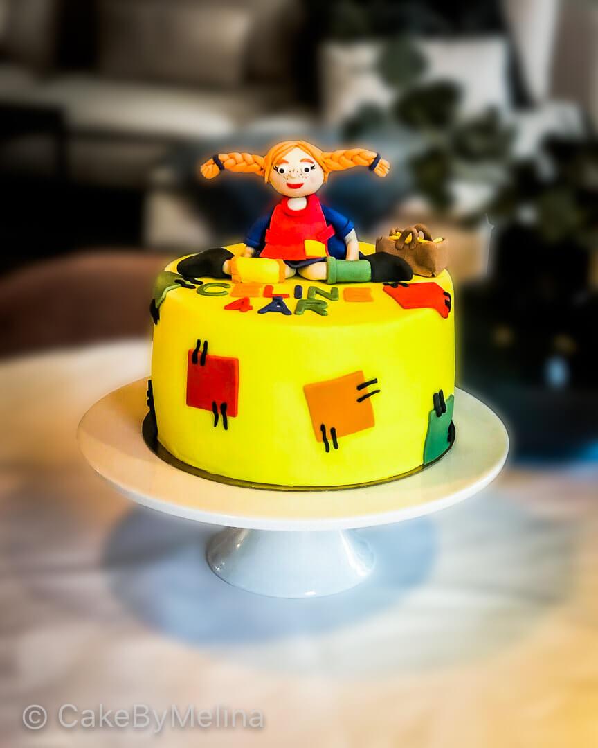 Barntårta Pippi Långstrump Norrköping, Linköping, Stockholm, Nyköping, Finspång som är bakad av CakeByMelina